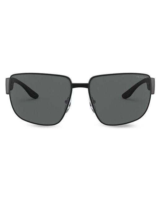 Prada Black Linea Rossa Eyewear Sunglasses for men