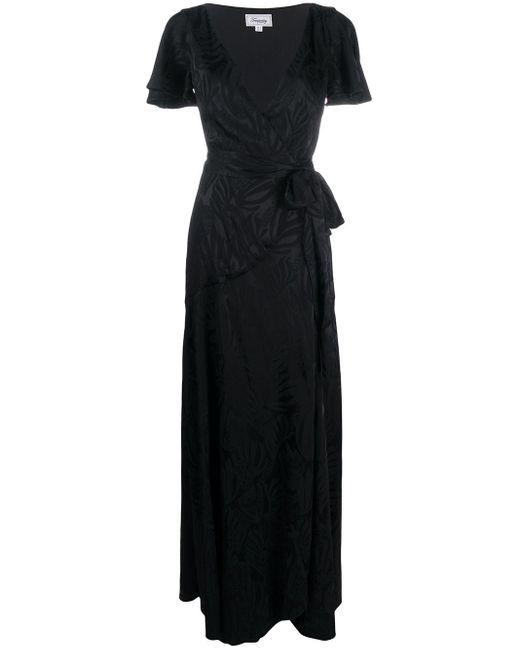 Temperley London Vネック ラップドレス Black