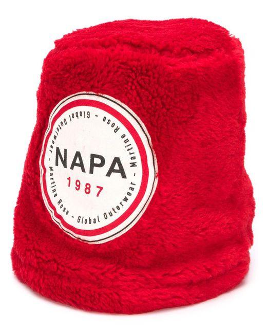 Martine Rose Red Fleece Bucket Hat for men