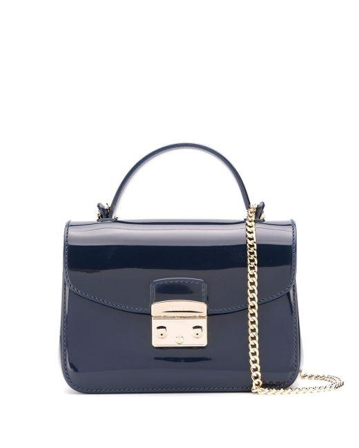 Furla Blue Mini Metropolis Crossbody Bag