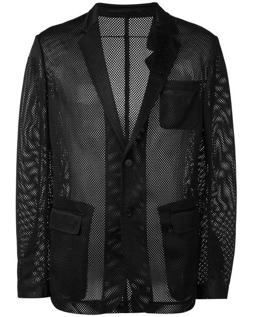 Givenchy | Black Mesh Effect Blazer for Men | Lyst