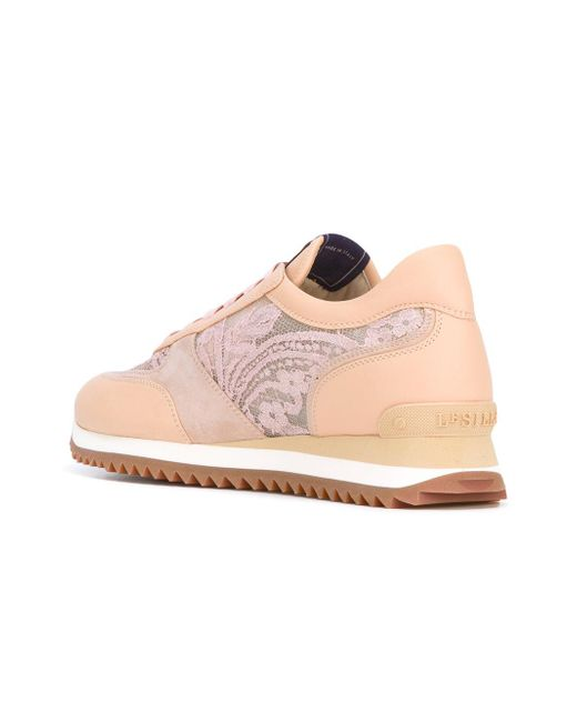 lace panel trainers - Nude & Neutrals Le Silla