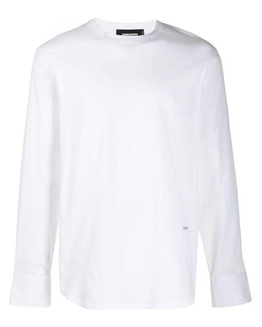 メンズ DSquared² ロゴプレート Tシャツ White