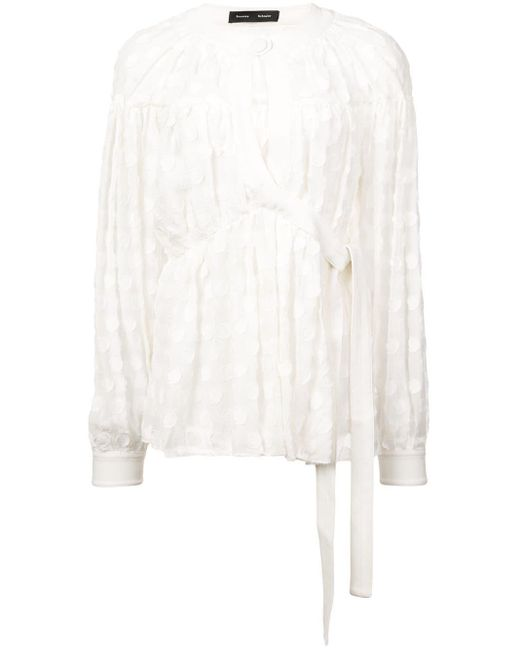 Proenza Schouler フィルクーペ ブラウス White