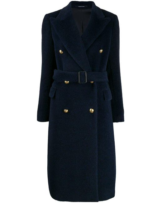 Двубортное Пальто Tagliatore, цвет: Blue
