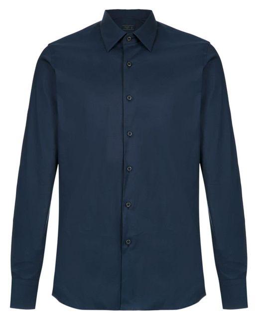 メンズ Prada ロングスリーブ シャツ Blue