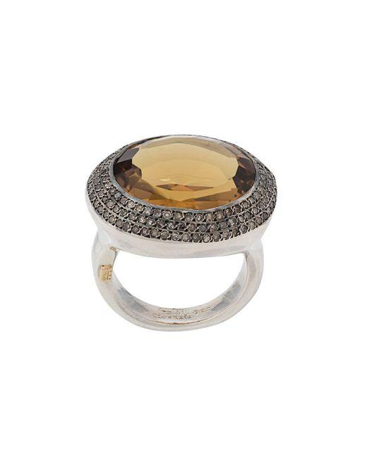 Rosa Maria Metallic Olfat Ring