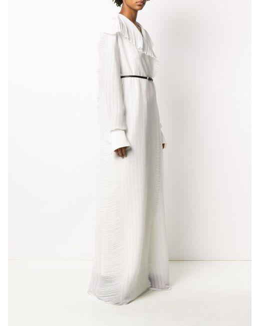 The Row ラッフルトリム ドレス White