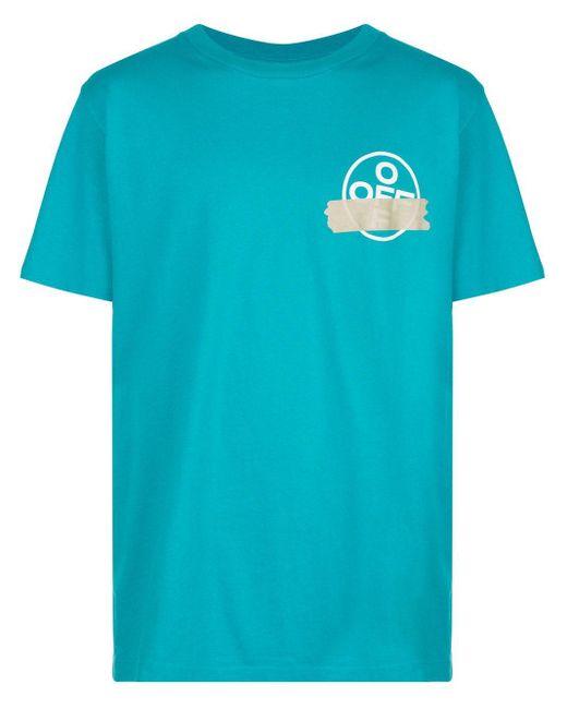 メンズ Off-White c/o Virgil Abloh アローロゴ Tシャツ Blue