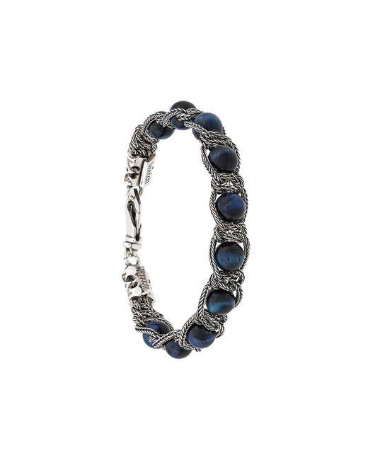 Beaded Chain Bracelet Emanuele Bicocchi, цвет: Blue
