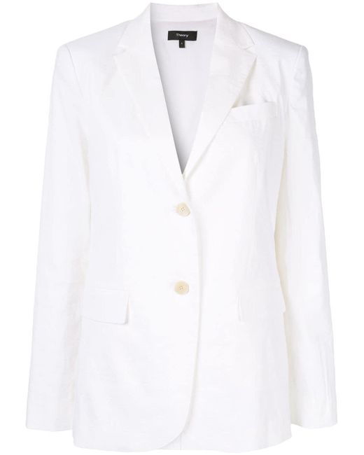 Theory - White Single-breasted Blazer - Lyst