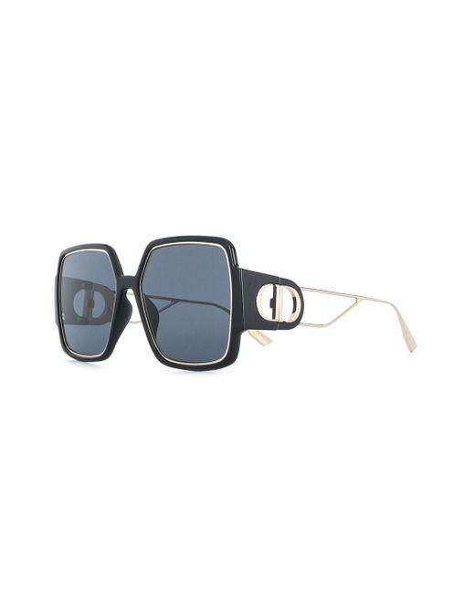 Солнцезащитные Очки В Массивной Квадратной Оправе Dior, цвет: Black