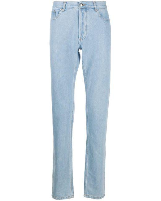 メンズ A.P.C. ハイウエスト ストレートジーンズ Blue