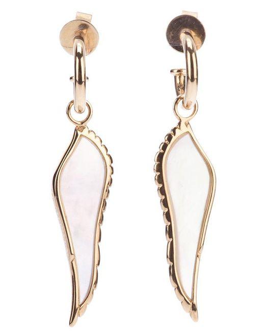 Garrard | 18kt Yellow Gold Pearl Wing Earrings | Lyst