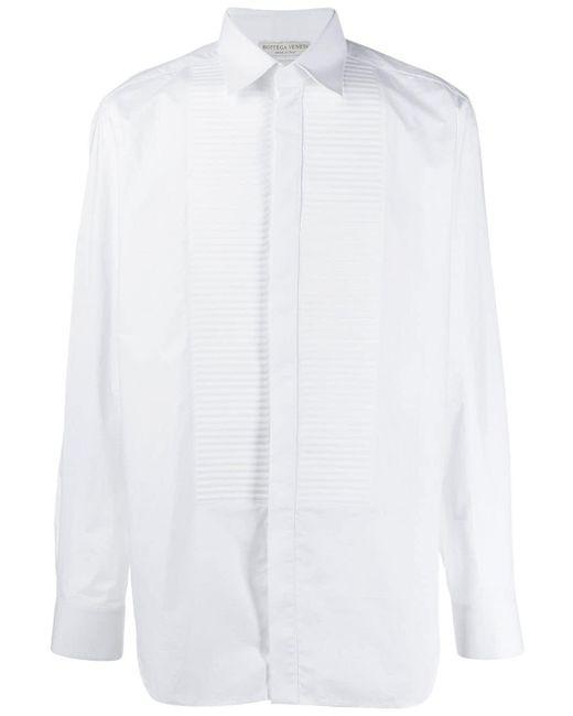 メンズ Bottega Veneta ビブ シャツ White