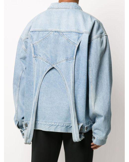Джинсовая Куртка Со Вставкой Moschino для него, цвет: Blue