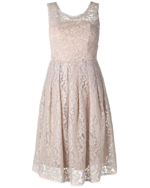 Martha Medeiros ドレープスカート レースドレス Multicolor