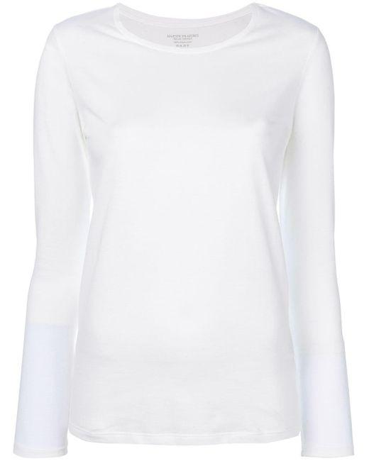 Majestic Filatures コットン ロングtシャツ White
