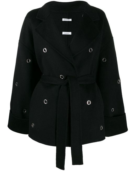 P.A.R.O.S.H. ベルテッド コート Black