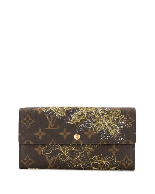 Кошелек Portefeuilles Sarah 2007-го Года Pre-owned Louis Vuitton, цвет: Brown