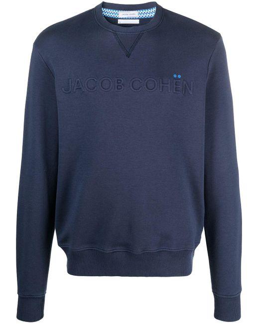 メンズ Jacob Cohen ロゴ スウェットシャツ Blue