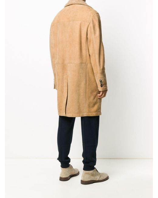 メンズ Brunello Cucinelli シングルコート Natural