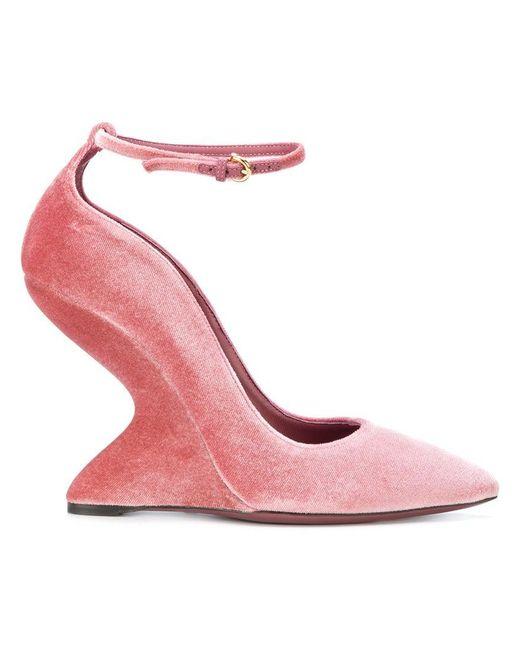 Ferragamo - Pink Sculpted-heel Pumps - Lyst