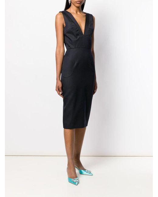 Dior 1990's プレオウンド ミディドレス Black