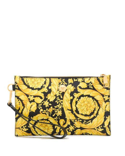 Клатч С Принтом Barocco Versace для него, цвет: Black