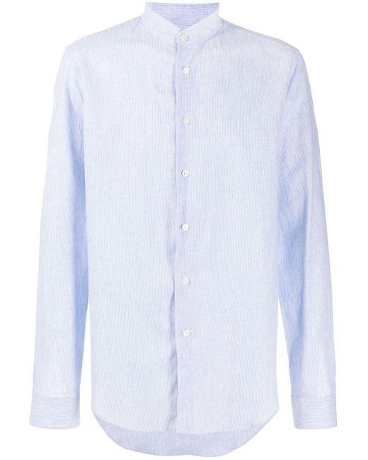 メンズ Dell'Oglio マンダリンカラー シャツ Blue