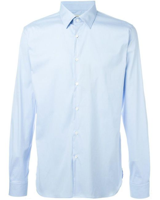 Burberry - Blue Classic Shirt for Men - Lyst