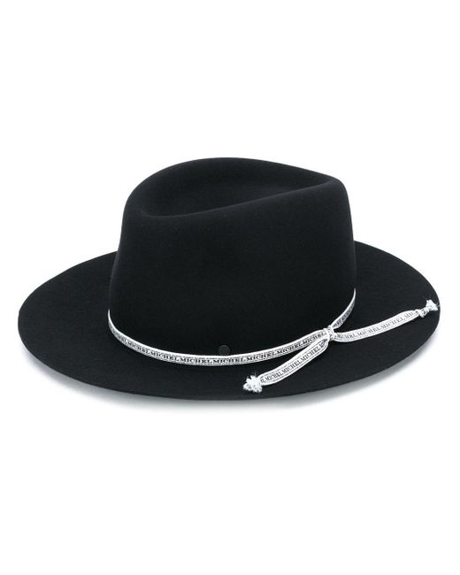 Фетровая Шляпа-федора Maison Michel, цвет: Black