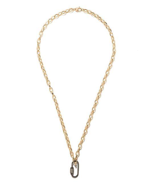 AS29 ダイヤモンド オーバル カラビナ 18kブラックゴールド Metallic