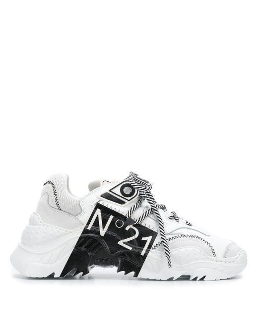 N°21 プラットフォーム スニーカー White