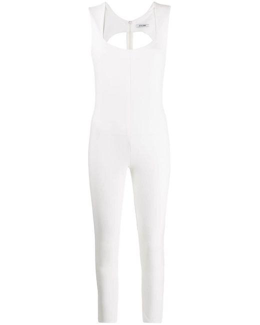 Styland スリムフィット ジャンプスーツ White