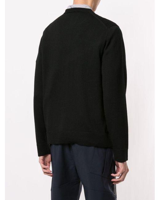Pull en maille intarsia Neil Barrett pour homme en coloris Black