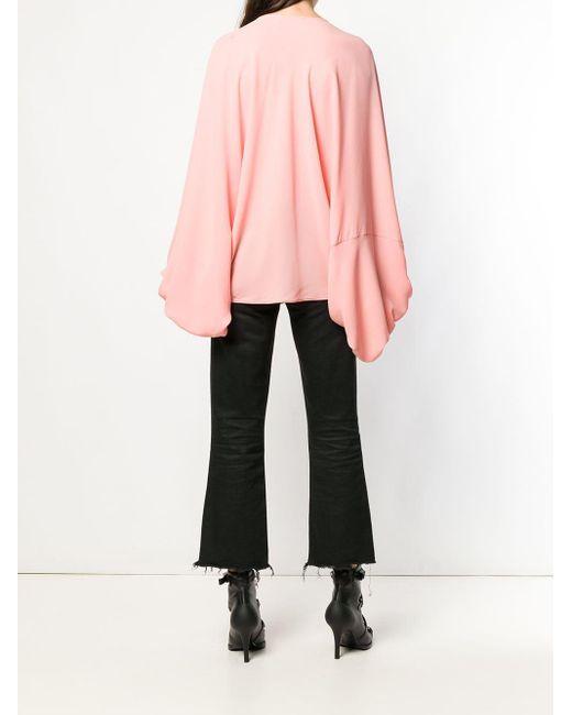 Блузка В Стиле Оверсайз Alexander McQueen, цвет: Pink