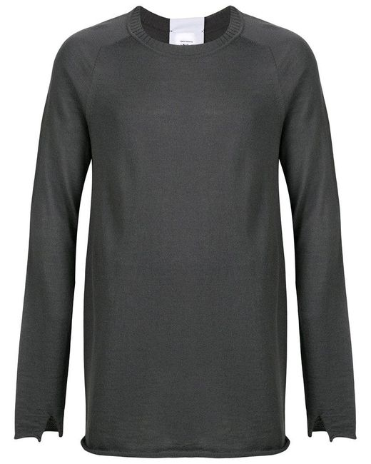 Lost and Found Rooms - Gray Crew Neck Sweater for Men - Lyst