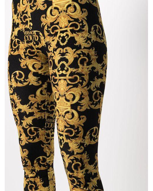 Versace Jeans バロックプリント レギンス Metallic