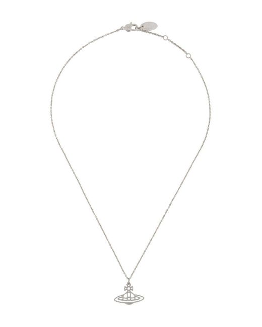 Vivienne Westwood Metallic Cut-out Logo Necklace