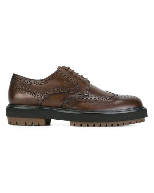 Tod's | Brown Classic Brogues for Men | Lyst