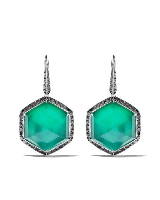 Boucles d'oreilles pendantes en or 18ct No Regrets Deco Haze à diamants Stephen Webster en coloris Multicolor