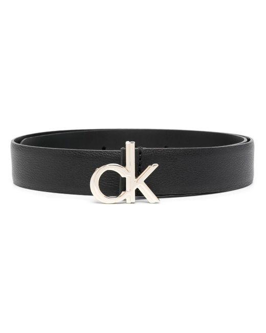 Ремень С Пряжкой-логотипом Calvin Klein, цвет: Black