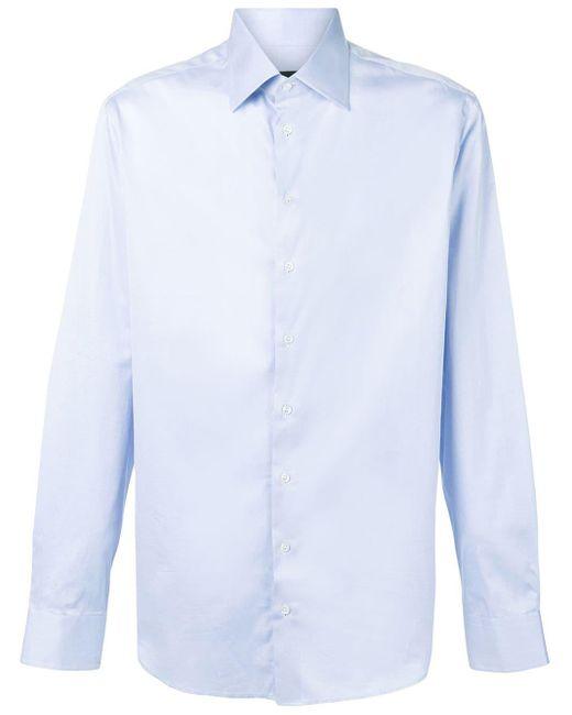 メンズ Giorgio Armani カッタウェイカラーシャツ Blue