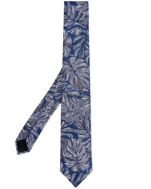 Cerruti 1881 - Blue Floral Print Tie for Men - Lyst