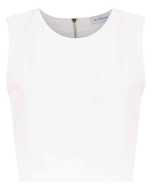Olympiah Spezzia Cropped Top White