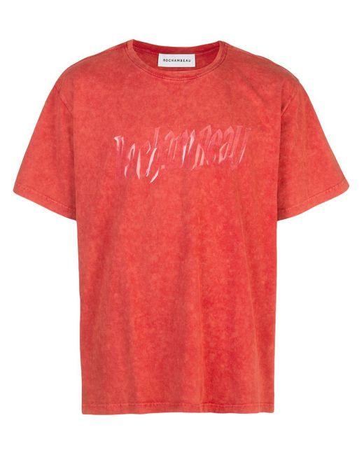 メンズ Rochambeau ロゴ Tシャツ Red