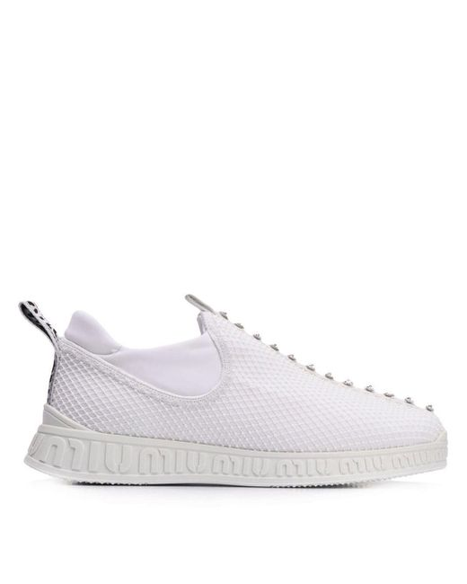 Chaussures de skate Miu Run Miu Miu en coloris White