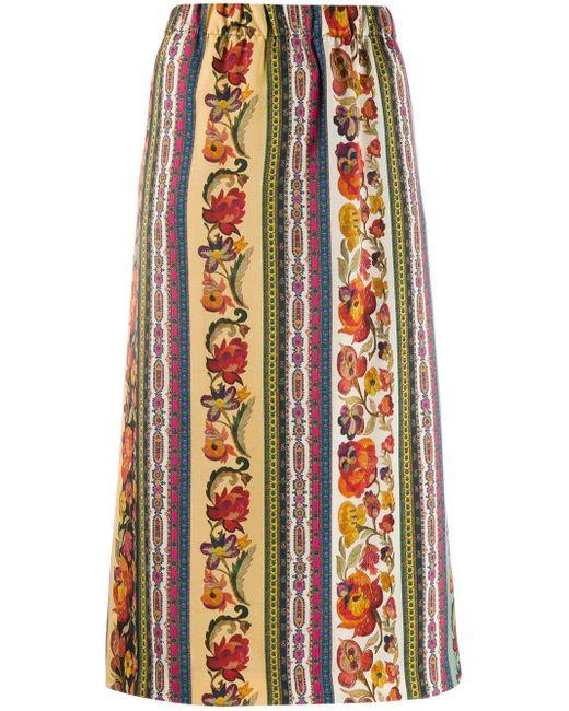 Etro フローラル ペンシルスカート Multicolor