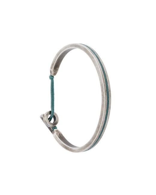 M. Cohen - Metallic Twist Hook Bracelet for Men - Lyst